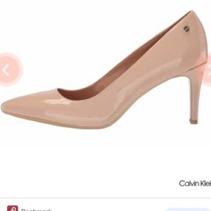 Calvin Klein Nilly Nude Heel Pumps Size 8